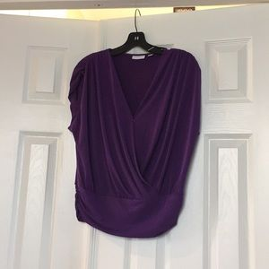 New York and company purple blouse size medium